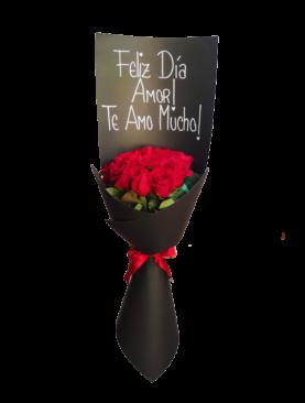 Ramo personalizado de 12 rosas