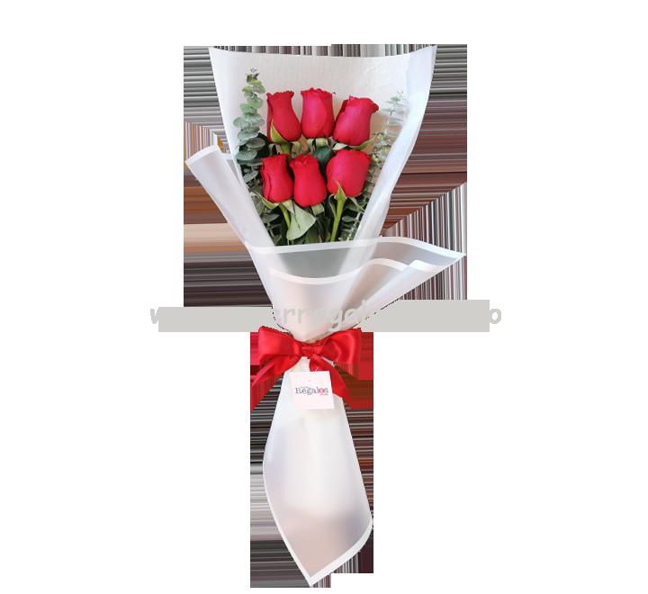 Ramo de 6 rosas - 0001