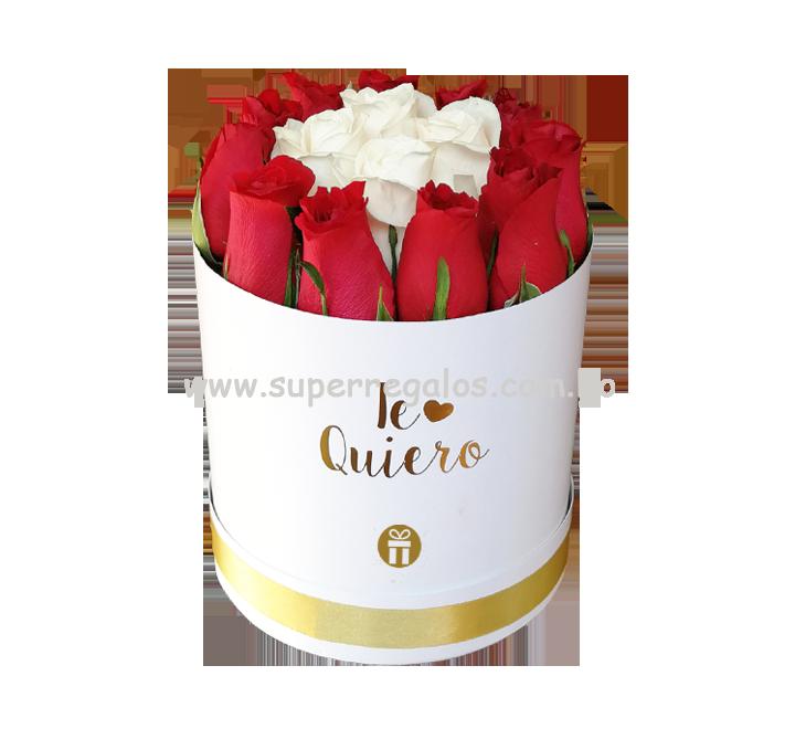 Caja redonda con rosas - Te Quiero