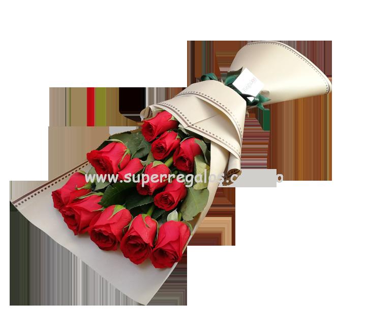 Ramo de 12 rosas - 0021