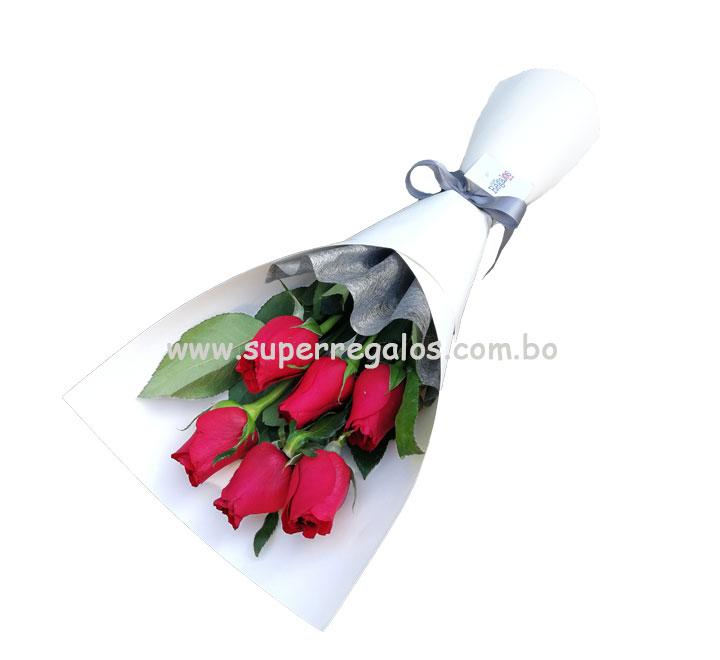 Ramo con 6 rosas - 0023