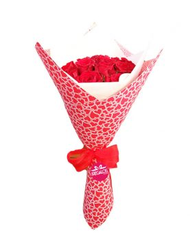 Ramo de 12 rosas - Suspiro de amor