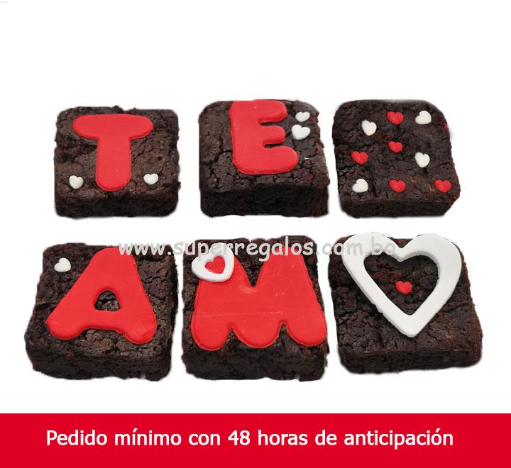 Caja con 6 Brownies