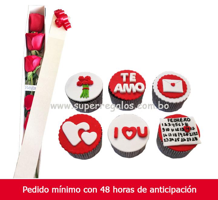 Cupcakes y rosas