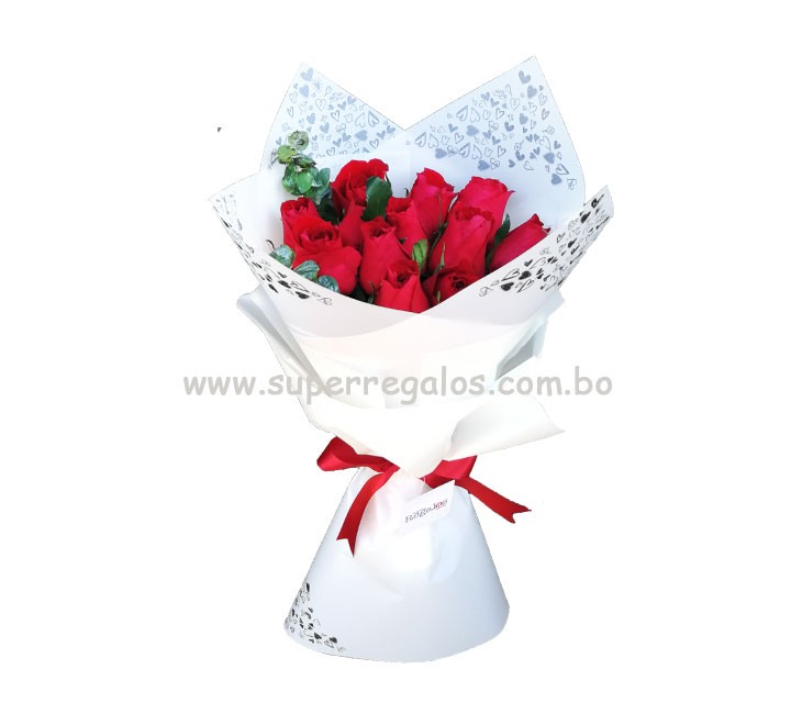 Ramo de 12 rosas - 0024