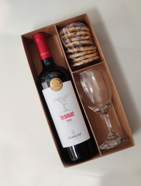 Box Vino tinto Aranjuez y Galletas
