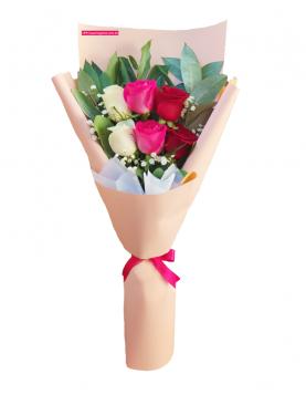 Ramo 6 rosas combinadas