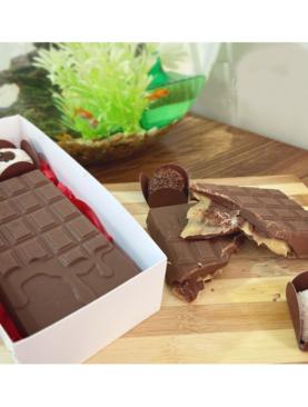 Barra de chocolate rellena de Brigadeiro