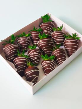 Frutillas con chocolates Caja 12 unidades