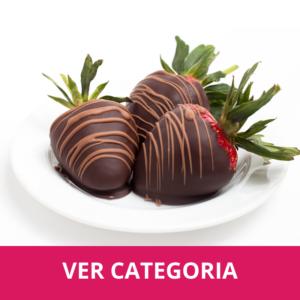 Frutillas con chocolates